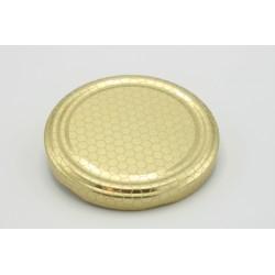 Lock 82 mm guld cellmönster