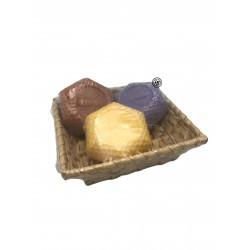 Presentkorg honungstvål 3-pack